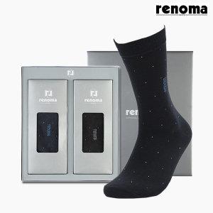 레노마_양말  레노마 남성용 2켤레 양말 선물세트 명절선물 (RM-1523B)