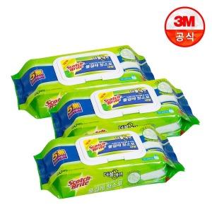 대형 더블액션 물걸레 청소포 60매+12매