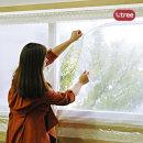 창문용 지퍼타입 방풍막 대형 300cmX120cm 1입