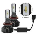 22000루멘 6500k 필립스칩 LED헤드라이트 전조등 H8