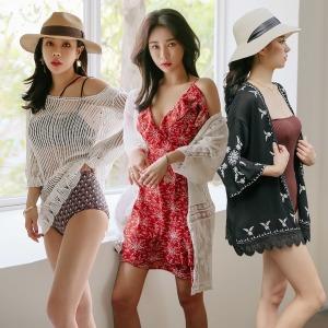 비치 원피스 비치웨어 커버업 드레스 허니문 신혼여행