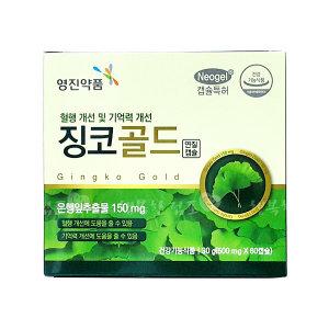 징코골드 60캡슐{사은품B}은행잎추출물/혈행개선