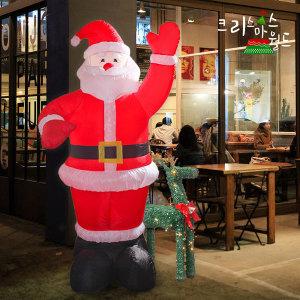 크리스마스월드 2m 에어산타 이벤트홍보용 대형산타