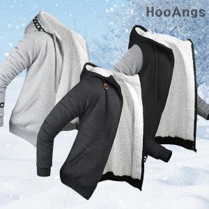 양털 후드집업/짚업/양털셔츠/패딩셔츠/남자겨울코디