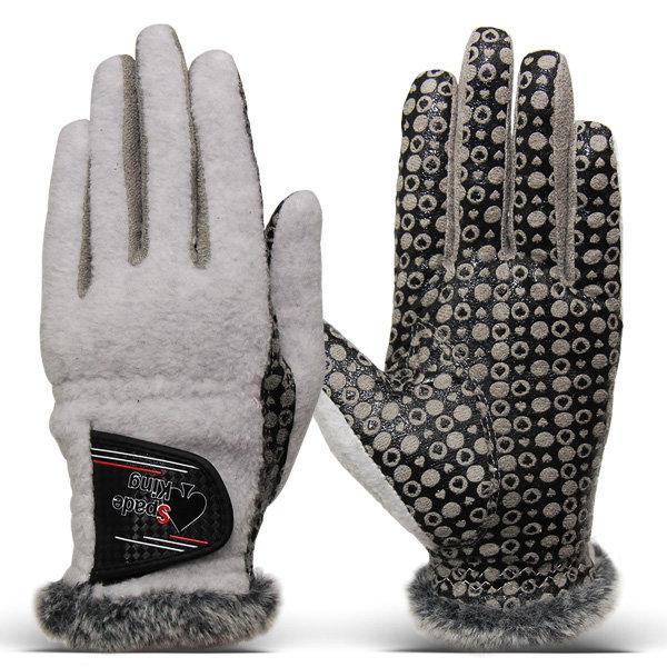 스페이드킹 겨울스포츠 여성 양손 방한 골프장갑