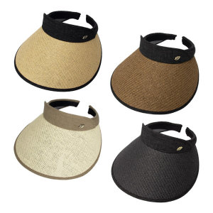 내추럴 라탄 썬캡 밀짚모자 베이직 여성 여름 모자