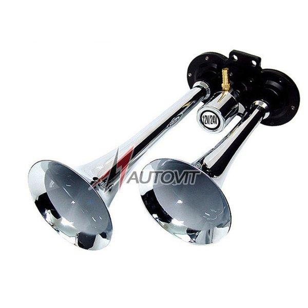 오토 쌍나팔 에어크락션(12V 24V 겸용) 자동차부품 에