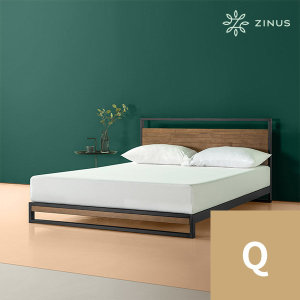 아이언라인 하이브리드 침대 프레임 (Q)
