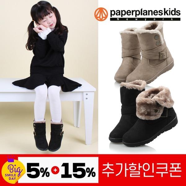 PK7786 아동 겨울 털 부츠 남아 여아 유아 신발 방한