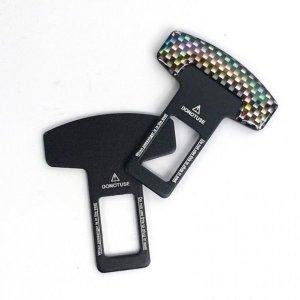 공용 안전벨트 클립 차량용 벨트 클립 블랙메탈 심플