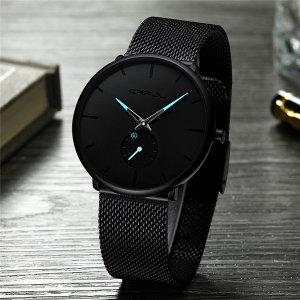 CR_M02 남성 메탈 심플 스포티 남자손목시계