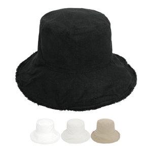 코튼 데미지 테슬 벙거지 모자 와이어 버킷햇 무지