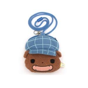 엉덩이탐정 인형 목걸이 지갑(브라운) 동전지갑