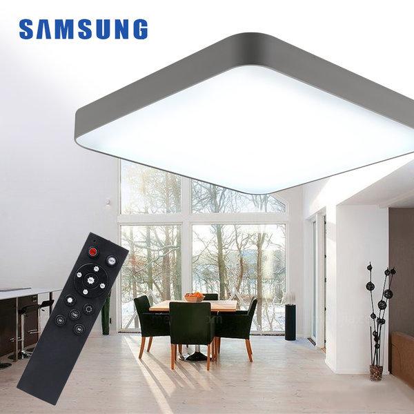 LED방등/조명/등기구 심플 방등 60W (삼성칩)+리모컨