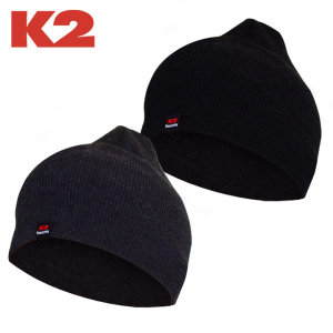 K2 비니 겨울 모자 방한 보온 니트 골지 무지