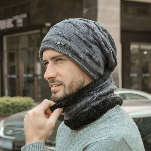 방한 비니+넥워머 세트 겨울 털모자 기모 모자 두건