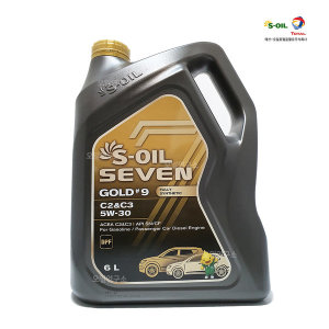 7GOLD S-OIL 세븐골드 5W30 6L 합성엔진오일 합성유
