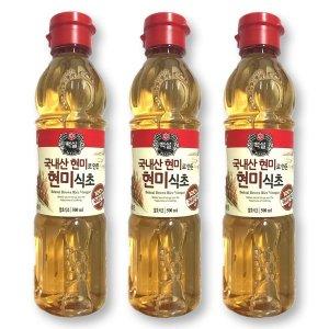 CJ 백설 국내산 현미식초(500mlx3개)양조레몬사과과일