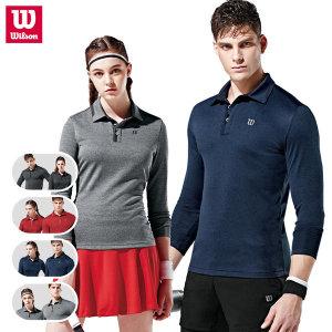 윌슨 기모 골프 티셔츠 가을/겨울 카라티셔츠 단체복