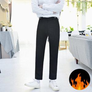 (빅사이즈) 허리조절 기모 블랙 교복바지 남자 -6XL