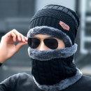 겨울 방한 니트 목워머 모자 세트 니트 비니 기모 융