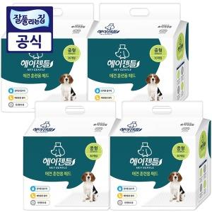 헤이젠틀 애견 배변패드 중형30매x4팩(총120매) 1장52g