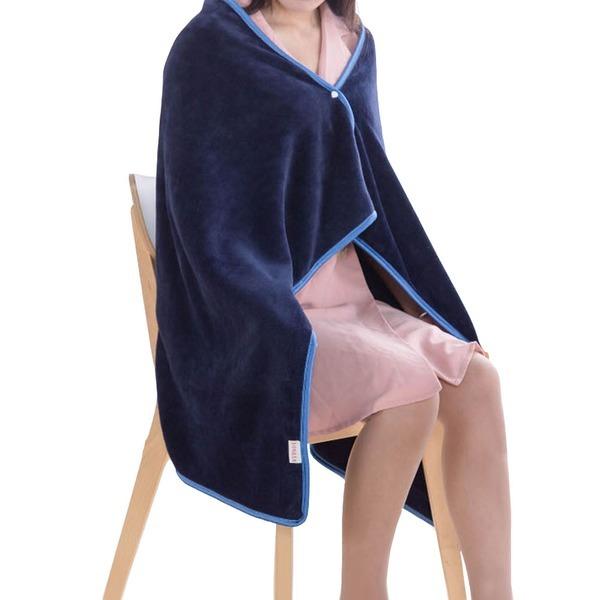 80X120)기스모 숄더 극세사 담요/망토담요/무릎/밍크