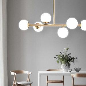 위블 6등 식탁등 브론즈골드 (사은품: LED G9램프)