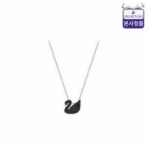 (현대백화점) 스와로브스키/본사정품  Iconic Swan Small 로듐 블랙 네크리스 5347330