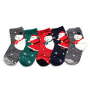 스노우맨 5족 아동 크리스마스 산타 양말 세트 어린이