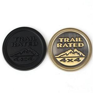 지프 뱃지 Trail rated 트레일 레이티드 뱃지 3D 입체