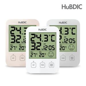 휴비딕 디지털 온습도계 HT-7 시계 아이콘 표시