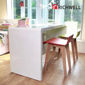하이그로시 베니쉬 뉴소프트 와이드 홈바 테이블 1500 (의자별도)