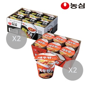 새우탕컵12개+튀김우동컵12개(총24개)