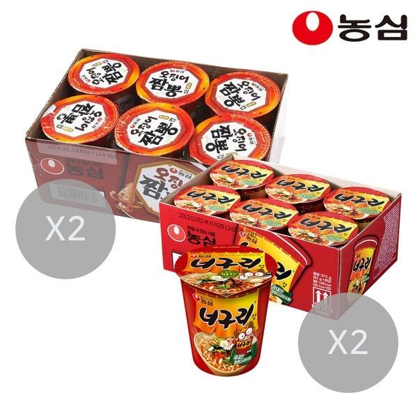 오징어짬뽕컵12개+너구리컵12개(총24개)