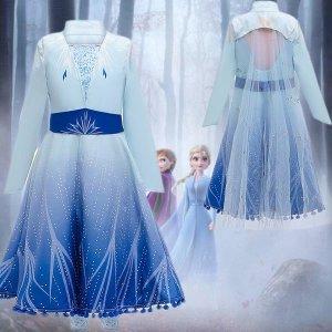 겨울왕국2 엘사공주 드레스 코스튬의상 코스프레 세트