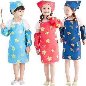 유아 전신 미술가운 어린이집 앞치마