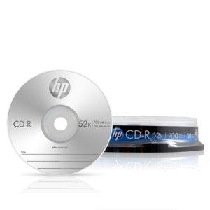 HP CD-R 음악 공시디 용량 700MB 10P CAKE