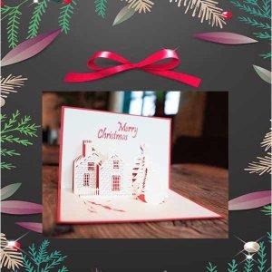 크리스마스 카드 성탄카드 기념일 폴딩입체카드 눈사