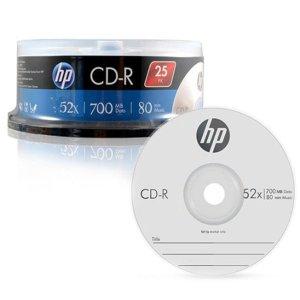 HP CD-R 음악공시디 용량 700MB 25P CAKE