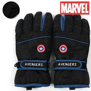 캡틴 아메리카 방수 스키 장갑 초등 주니어 스마트폰