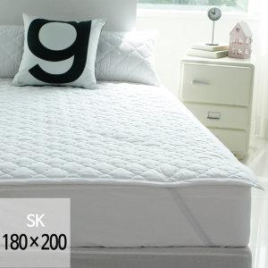 (바숨) 순면누빔 고정밴딩 침대패드 슈퍼킹(SK) 180x200 사이즈