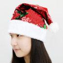 스팽글 산타모자 (초록레드)/ 신상 산타의상 파티용품
