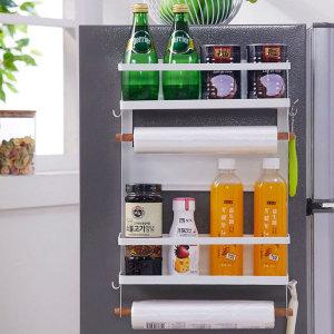 주방 냉장고 세탁기 자석 선반 4단(프리미엄형)