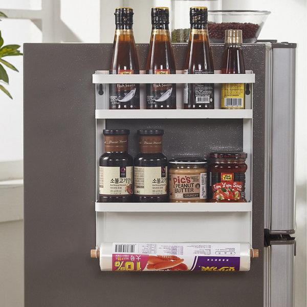 주방 냉장고 세탁기 자석 선반 3단(베이직형)