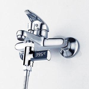 샤워기온도계 LED 자가발전 유아 샤워온도계 수온계