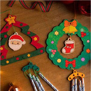 크리스마스 풍경 만들기 도어벨 튜브벨