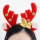 크리스마스_리본방울_루돌프머리띠(레드) / 파티용품