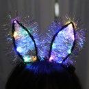 LED토끼머리띠/파티용품 바니머리띠 크리스마스홈파티