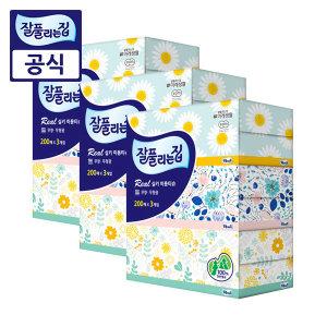 잘풀리는집 미용티슈 200매 9개/휴지/화장지/각티슈